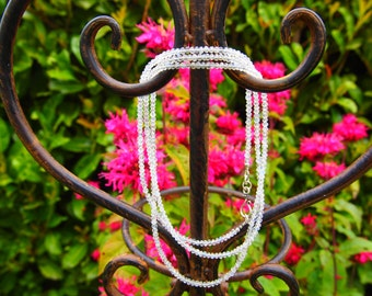 Necklace Moon stone AAA+ 3,5mm Rainbow