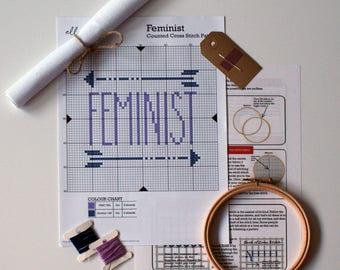 CROSS STITCH KIT   Feminist Cross Stitch Kit