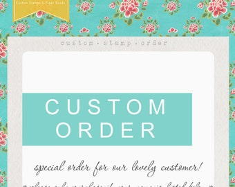 Custom Reserved Listing Self inking - Amelia- alisonmiles11