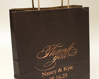 Bags~50 Kraft Paper Personalized Wedding Bags