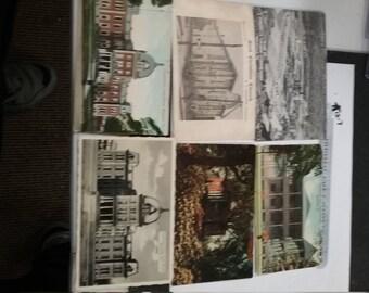 Vintage utilisé 6 pièce lot de cartes postales Meadville Titusville