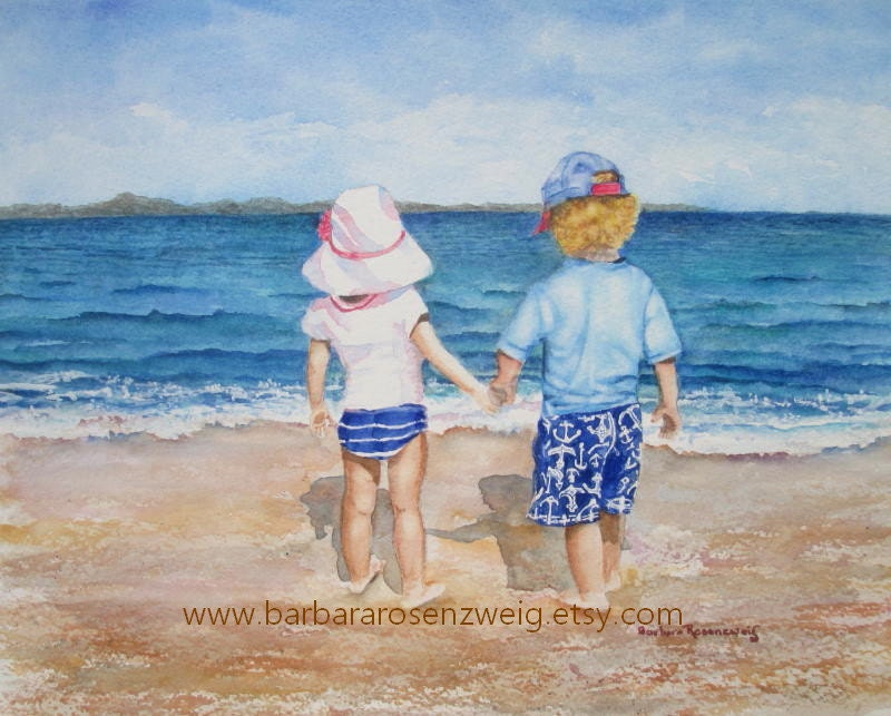 Nursery Wall Art Beach Print Decor Painting