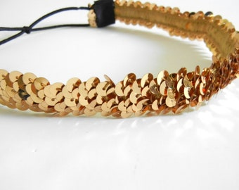 Gold Sequin Headband