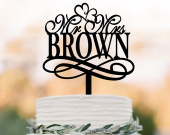 Wedding Cake topper mr and mrs, personalized wedding cake toppers with name, funny wedding cake toppers decoration acrylic