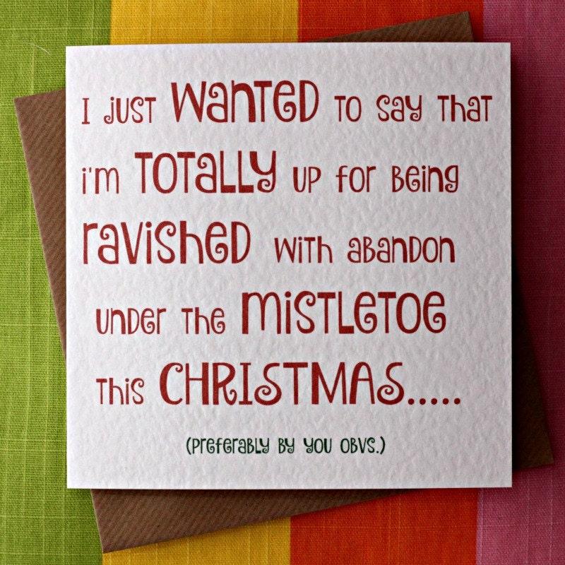 Mistletoe ravish christmas funny card wife christmas card zoom m4hsunfo Gallery
