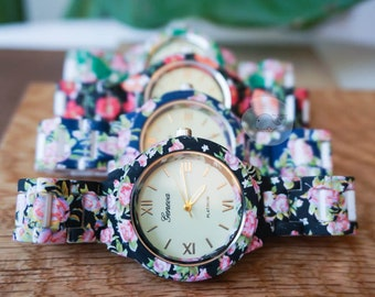 Cute Floral Spring Summer Trendy Watch