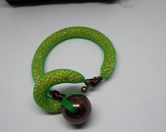 Green Mesh Bracelet