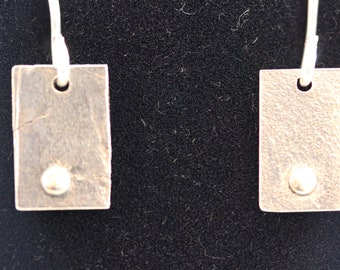 Textured Sterling Silver Earrings (060818-027)
