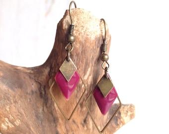 Diamond - minimalist jewelry, diamond, geometric, vintage, retro jewelry, handmade