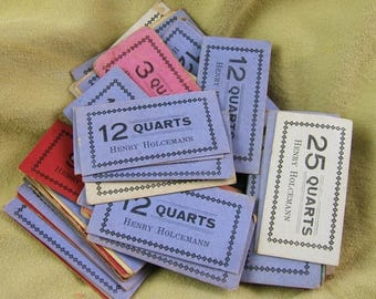 Assorted Grabbag os 10 Vintage Milk Tickets