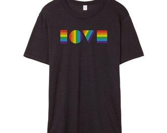 LGBTQ LOVE T-Shirt | Unisex LGBT Shirt | Gay Pride Parade Shirt | Lesbian Pride Shirt | Pride Parade Shirt | Rainbow Love | Love Is Love