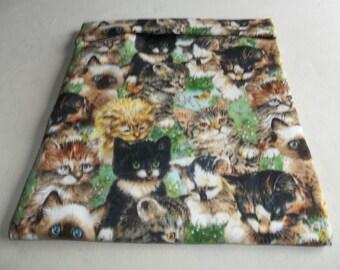 Microwave Potato Bag, Kittens Cats, Baked Potato Bag, Potato Sack, All Cotton, Handmade, Kitchen Utensil, Kitchen Gadget, Gift