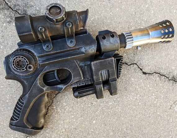 Custom Star Wars style Blaster Pistol Nerf Nitefinder cosplay sci-fi gun  prop costume accessory dl-44 han solo