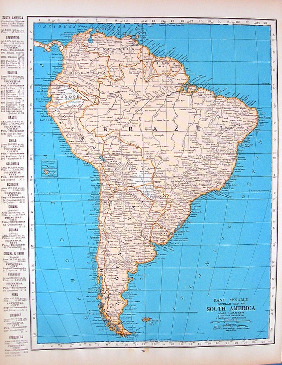 Map Of Cuba Map Of South America Vintage Map From - Vintage map of cuba