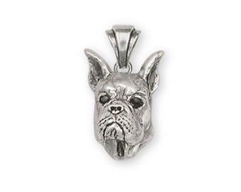 Boxer Pendant Jewelry Sterling Silver Handmade Dog Pendant BX5-P
