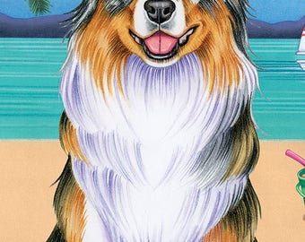 Australian Shepherd Beach Towel