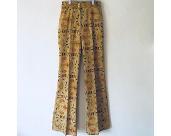 African Print Pants/ Printed Pants/ Hi Waisted Pants/ Cotton Pants/ Flared Pants