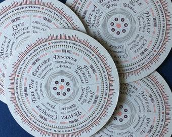 Fortune Teller Screen Printed Coaster Set