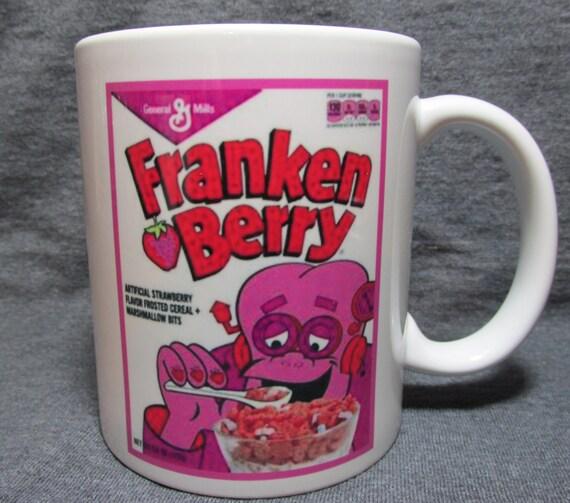 Franken Berry Cereal Box Monster Cereal Vintage Image On 11 Oz