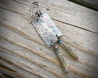 Sterling Silver Labradorite Earrings Wild Prairie Silver Jewelry