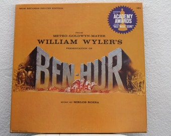 Ben Hur - Music Score from the film, Music by Miklos Rozsa, w/ Hard Cover book