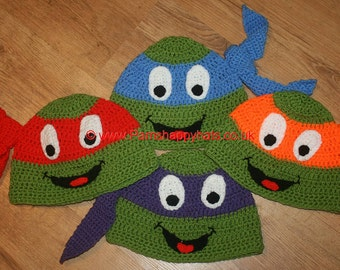 Hand Crocheted Turtle Hat  HH102