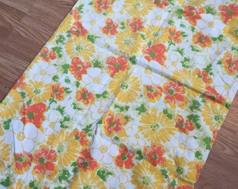 One large vintage floral pillowcase
