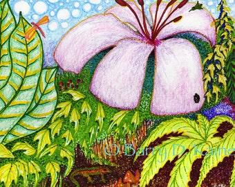 Magic Garden abstract print 01