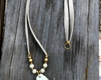 Linen Oyster Necklace