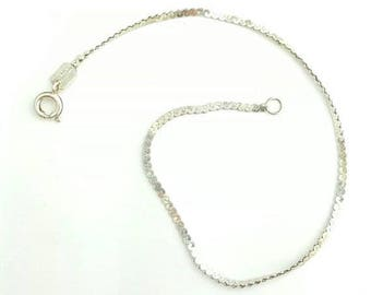 9 inch sterling silver 040 serpentine chain set of 3