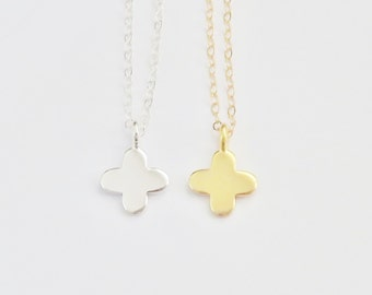 Sterling Silver Cross Necklace - Clover Necklace