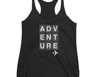 Women's Racerback ADVENTURE Tank Top • Adventure Gift Present Vacation Trip