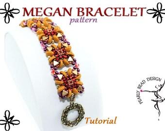MEGAN bracelet pattern tutorial with Kheops par Puca and Piggy beads
