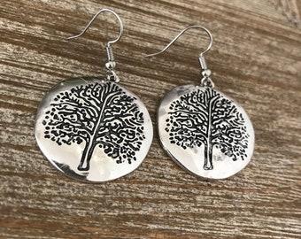 Tree of Life Medallion Earrings
