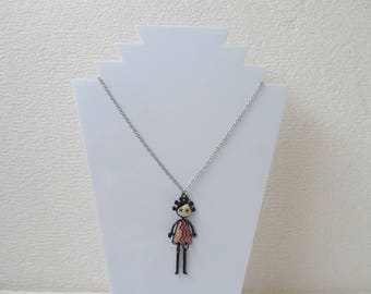 Girl trendy muticolore enamel charm necklace