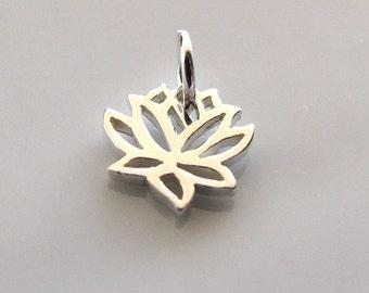 Mini Sterling Silver Lotus Charm
