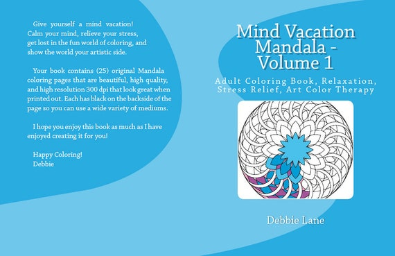 Mandala Coloring Volume 1 Adult Book