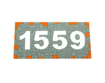 Address Sign -- Stained Glass Mosaic House Number Plaque