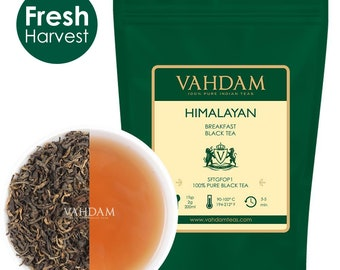 Imperial Black Tea Leaves from Himalayas, Breakfast Tea(100 Cups)-Robust, Aromatic & Flavoury, Black Tea Loose Leaf Sourced,3.53oz(Set of 2)
