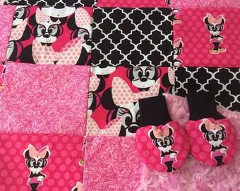 Minnie Mouse Lovie Lovey Mini Blanket Toddler Baby