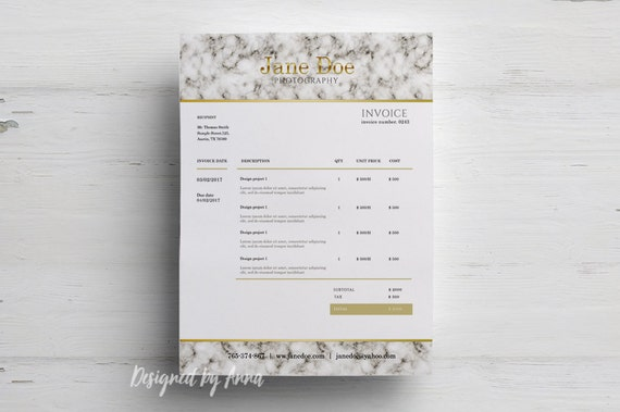 Photography Invoice Template Elegant Invoice Design Wedding - Creative invoice template free download japanese online store