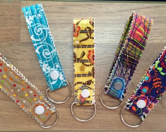 Shabby Quilted Key Fob Wristlet