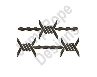 Barbed Wire Fence - Machine Embroidery Design