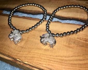 Silver Bead Bracelet Elephant In The Room