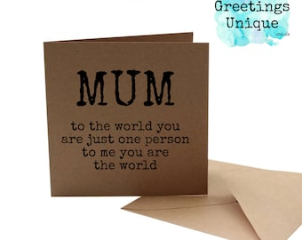 Mother Birthday card - Mother's Day Card. Mum Mom Mam Mother 30th 40th 50th 60th 65th 70th Birthday Card - Mothers Day Card.