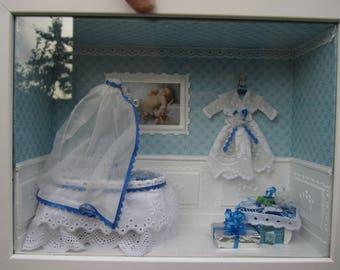 decorative frame: House of blue baptism