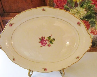 Victoria by Syracuse Platter, Dessert Tray, Serving Tray, 1950's Dinnerware, Romantic Dinnerware