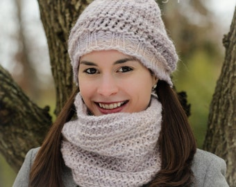 Loom Knit Hat and Cowl PATTERN set. 2 Patterns included for this Pretty and Feminine Hat and Cowl Set. PATTERN ONLY!!!! Instant Download!