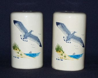 Seagulls and Summer Beach Salt and Pepper Shaker Set