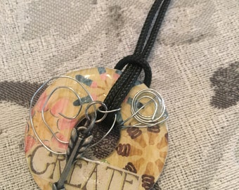 Decoupage daughter Washer Necklace
